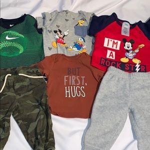 Disney Baby, Nike, Gap, Carter, Lot of 7 baby boy